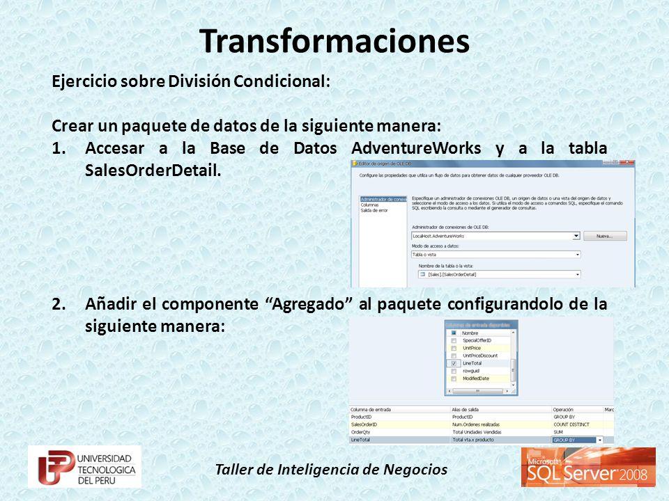 Transformaciones Ejercicio sobre División Condicional:
