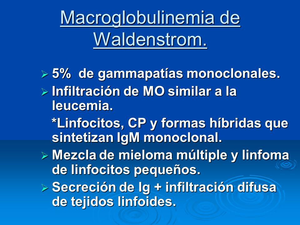 Macroglobulinemia de Waldenstrom.
