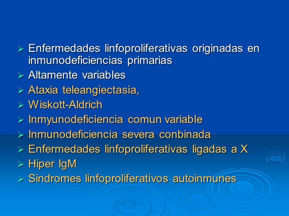 Enfermedades linfoproliferativas originadas en inmunodeficiencias primarias
