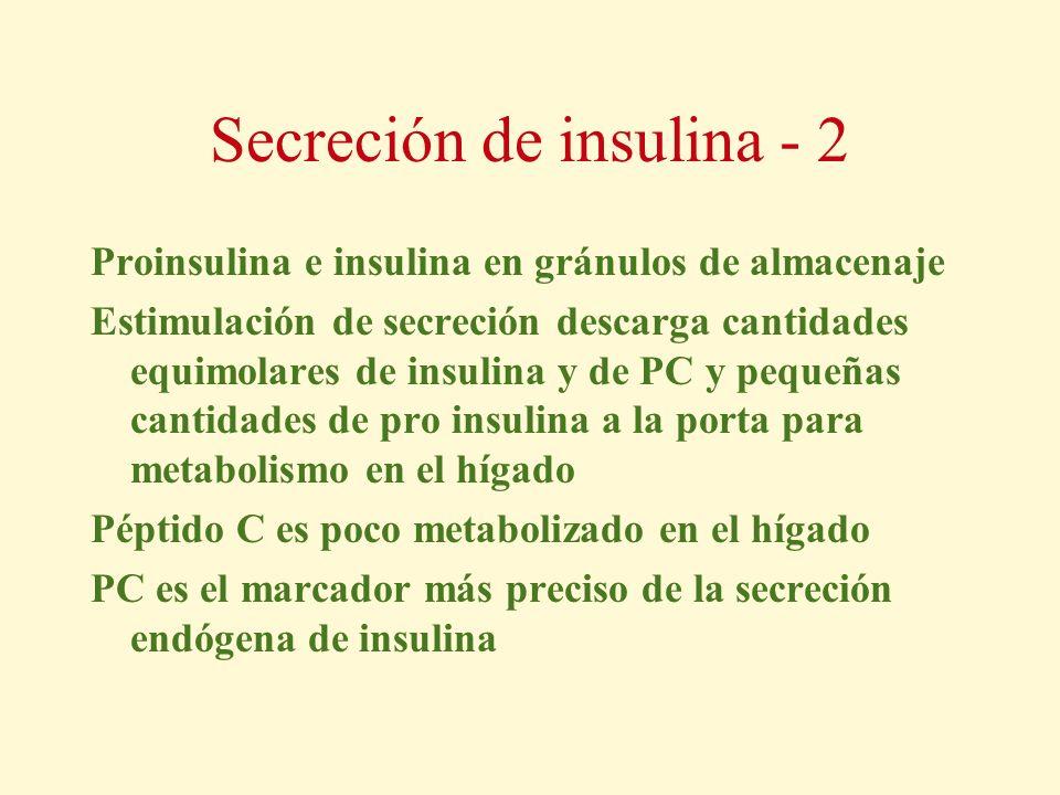 Secreción de insulina - 2
