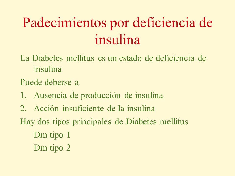 Padecimientos por deficiencia de insulina