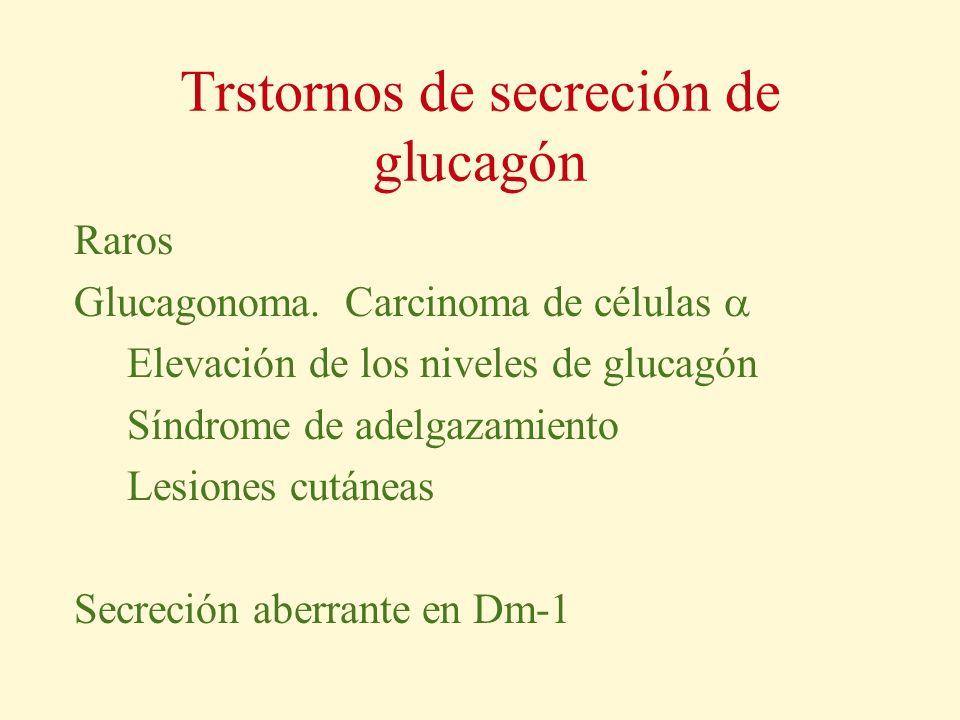 Trstornos de secreción de glucagón