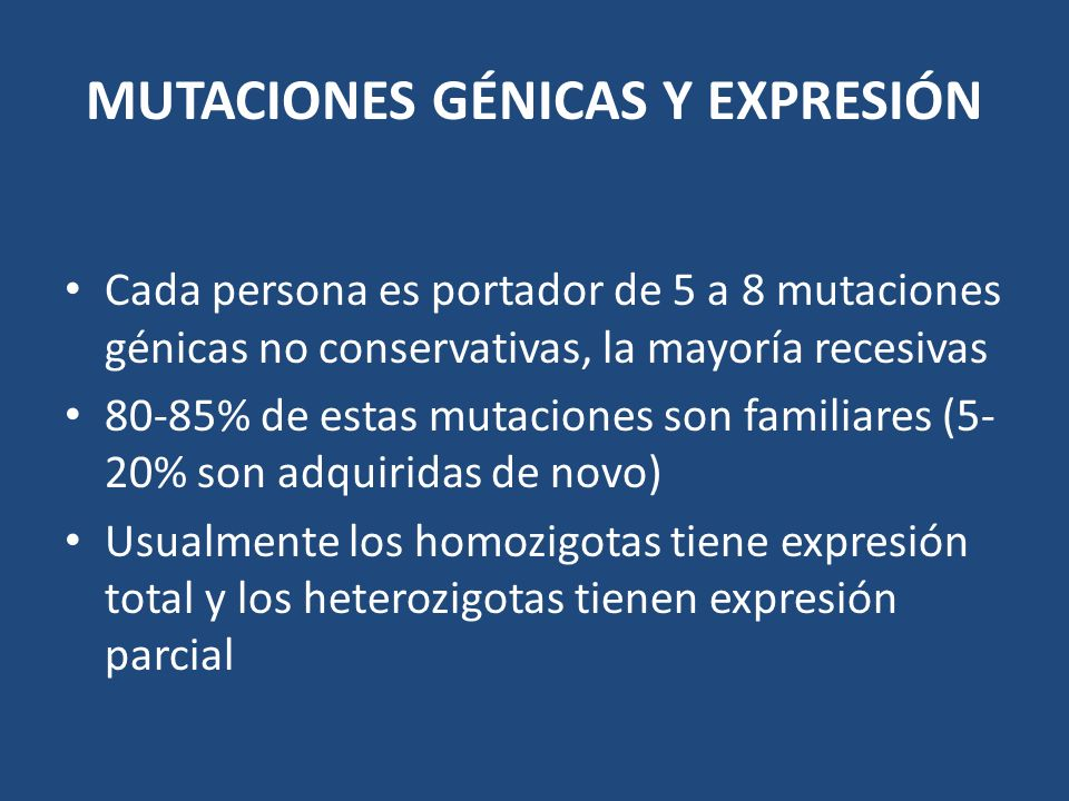 MUTACIONES GÉNICAS Y EXPRESIÓN