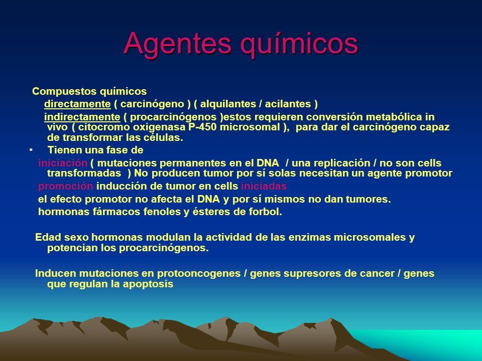 Agentes químicos Compuestos químicos