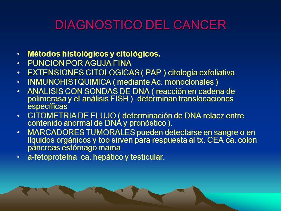 DIAGNOSTICO DEL CANCER