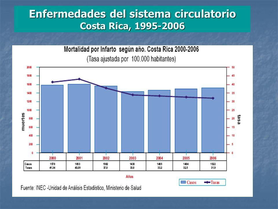 Enfermedades del sistema circulatorio Costa Rica, 1995-2006