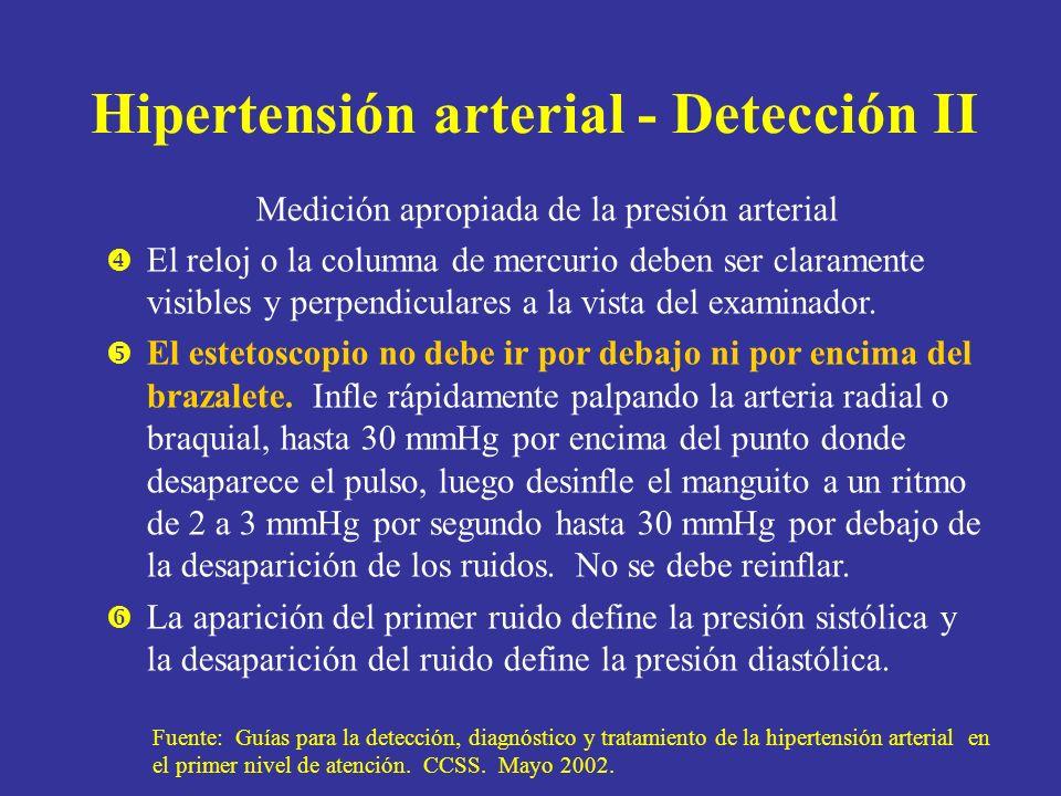 Hipertensión arterial - Detección II