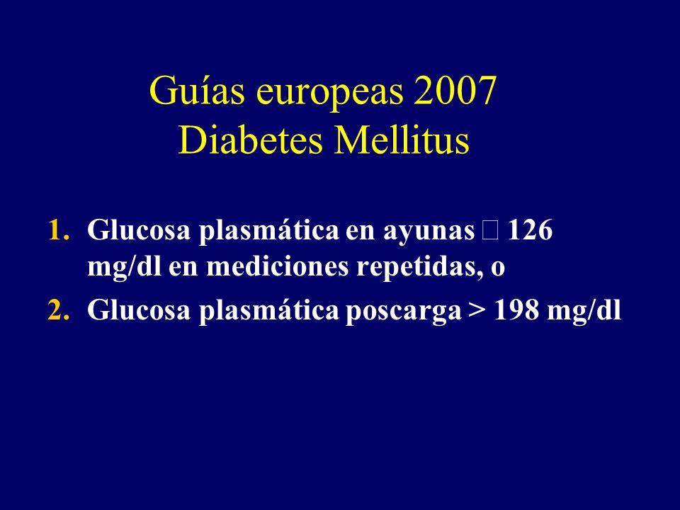 Guías europeas 2007 Diabetes Mellitus
