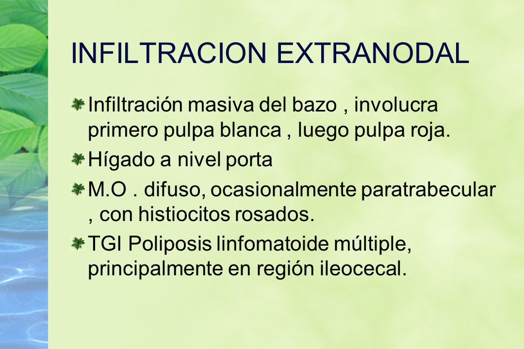 INFILTRACION EXTRANODAL