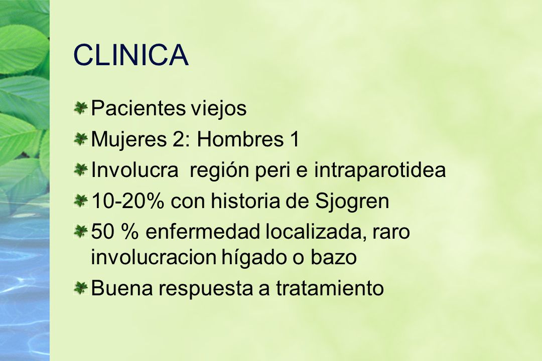 CLINICA Pacientes viejos Mujeres 2: Hombres 1