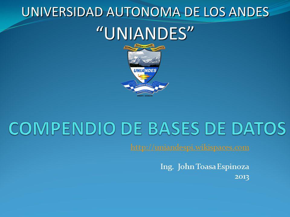 COMPENDIO DE BASES DE DATOS
