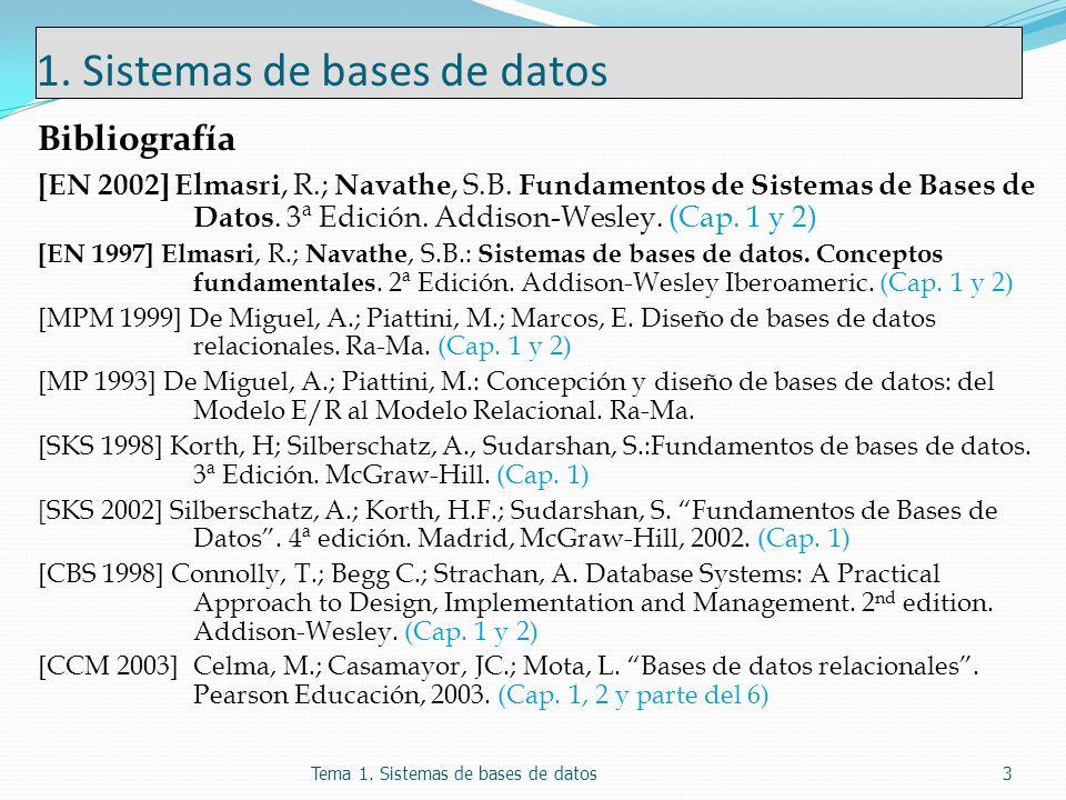 1. Sistemas de bases de datos