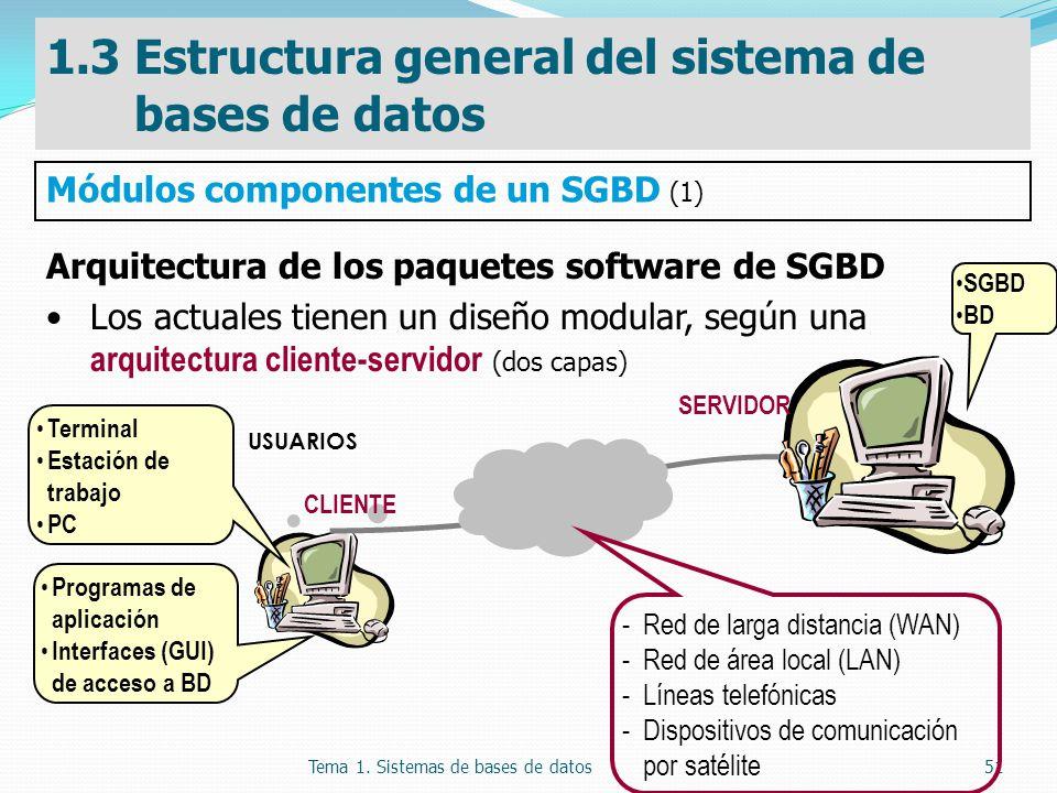 1.3 Estructura general del sistema de bases de datos