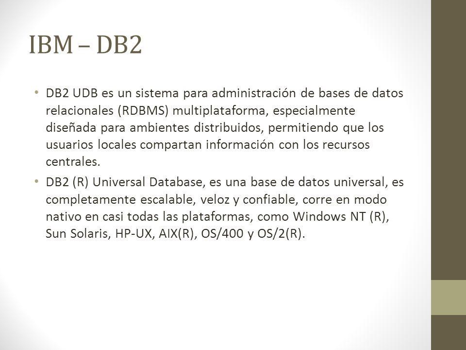 IBM – DB2