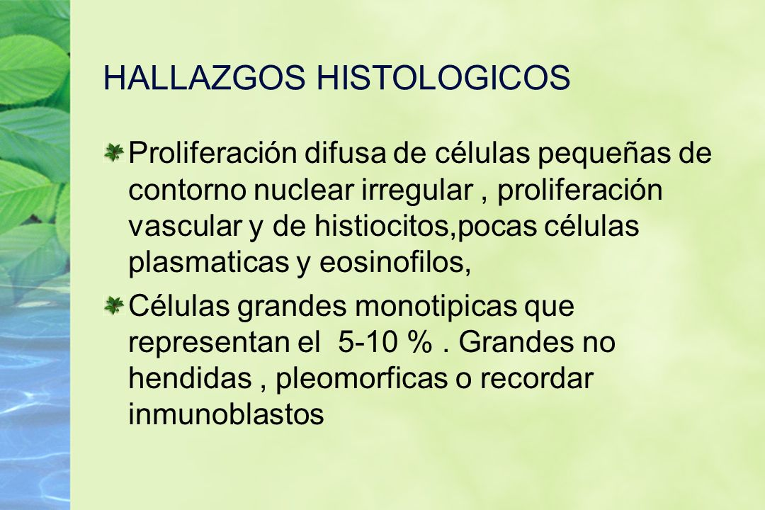 HALLAZGOS HISTOLOGICOS