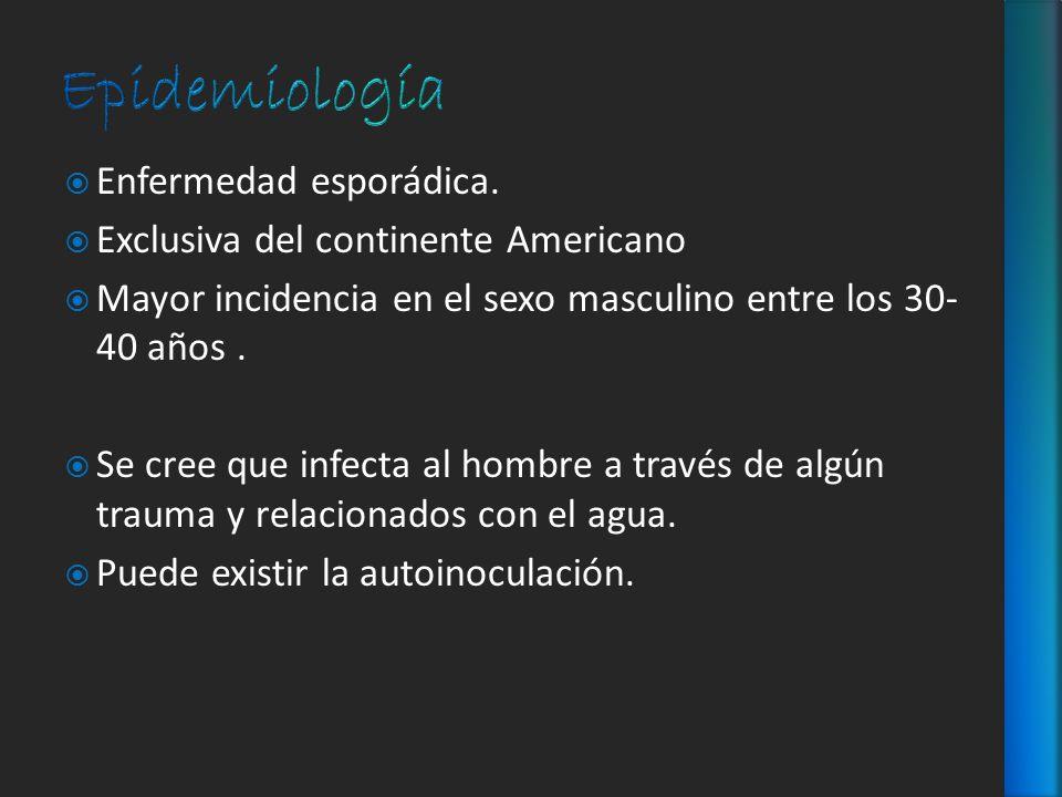 Epidemiología Enfermedad esporádica.