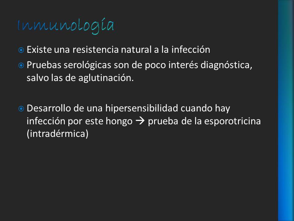 Inmunología Existe una resistencia natural a la infección