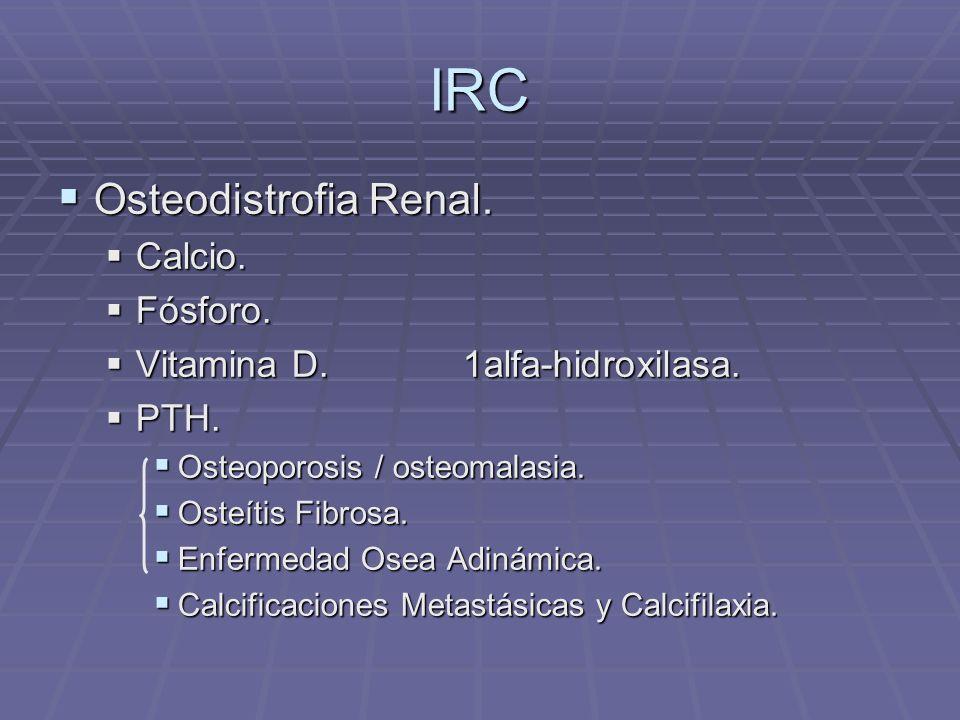 IRC Osteodistrofia Renal. Calcio. Fósforo.