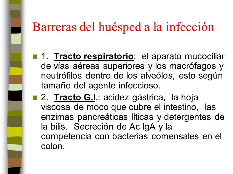 Barreras del huésped a la infección