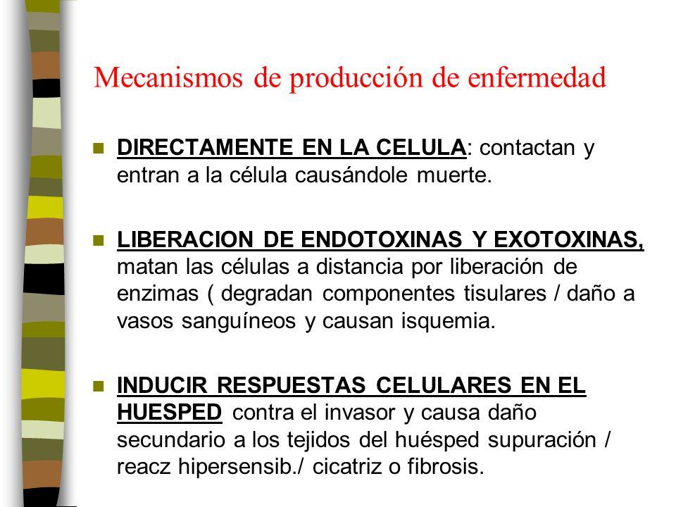 Mecanismos de producción de enfermedad