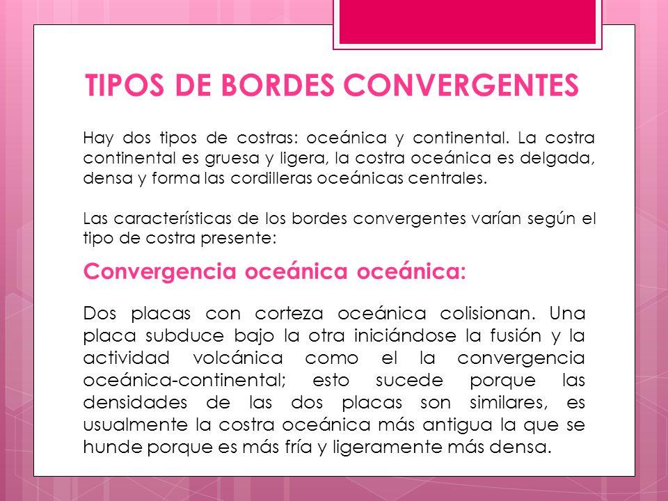 TIPOS DE BORDES CONVERGENTES
