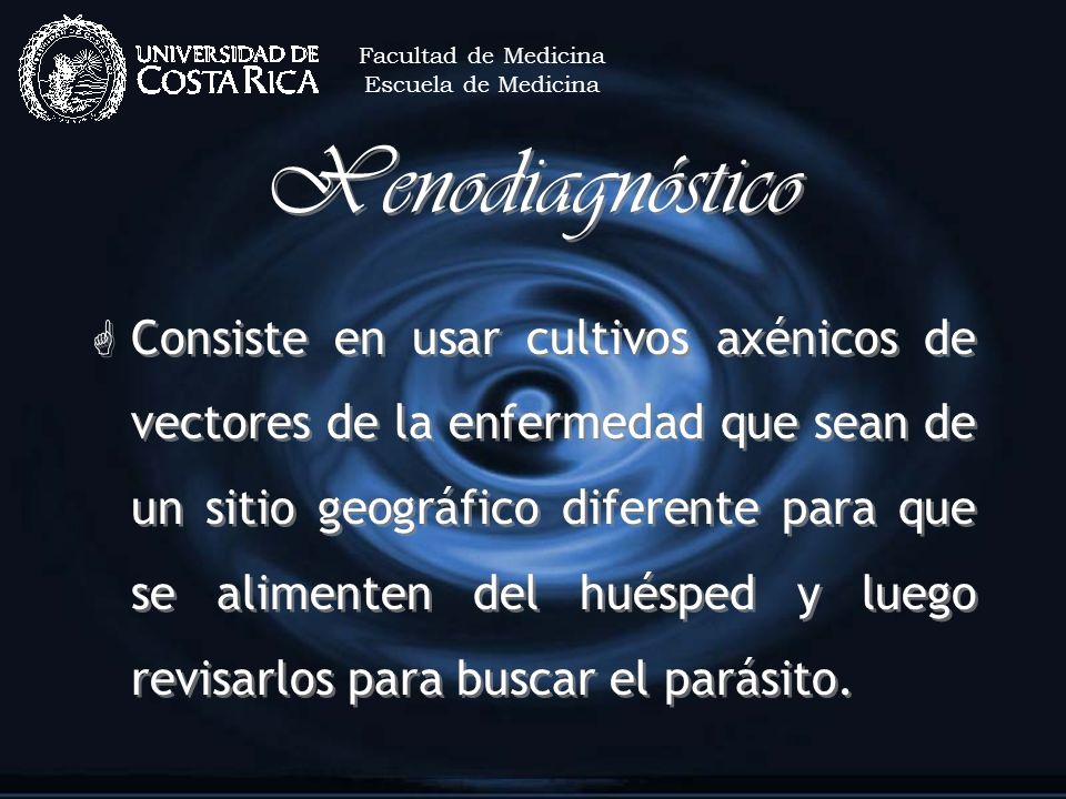 Facultad de MedicinaEscuela de Medicina. Xenodiagnóstico.