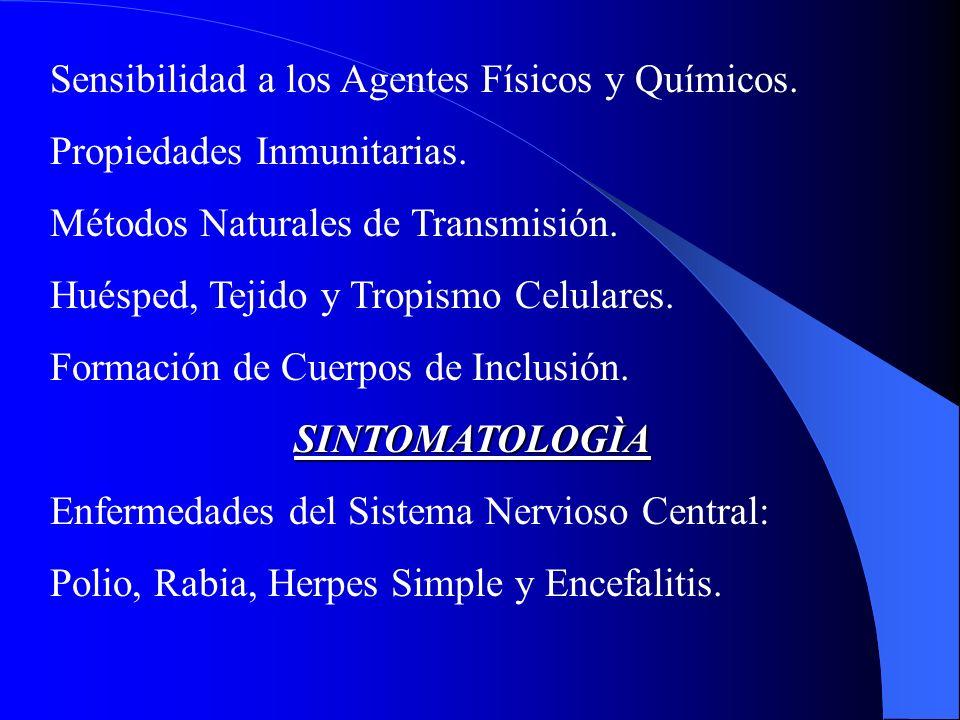 Sensibilidad a los Agentes Físicos y Químicos.