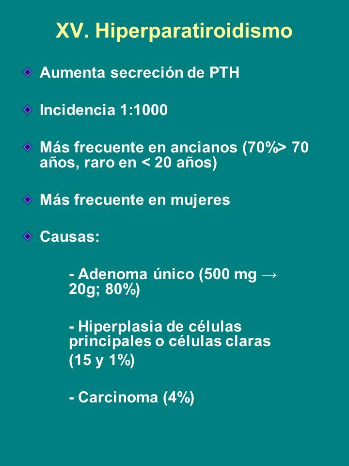 XV. Hiperparatiroidismo