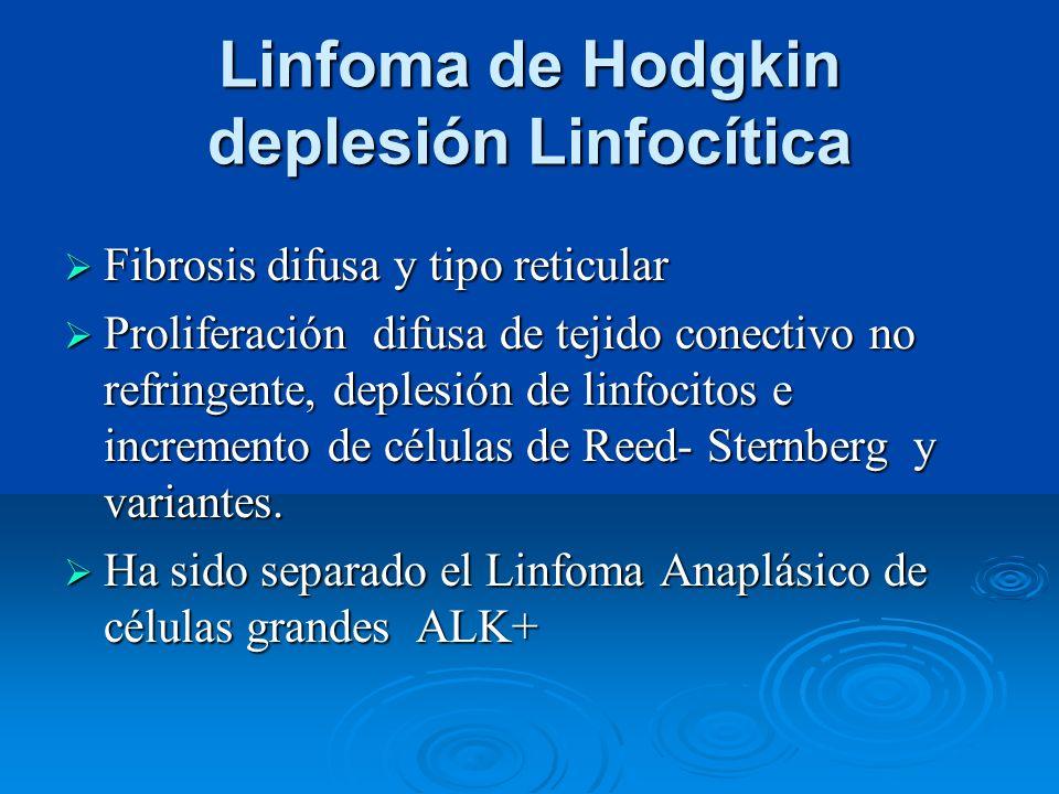 Linfoma de Hodgkin deplesión Linfocítica