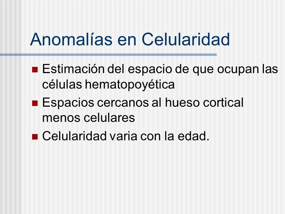 Anomalías en Celularidad