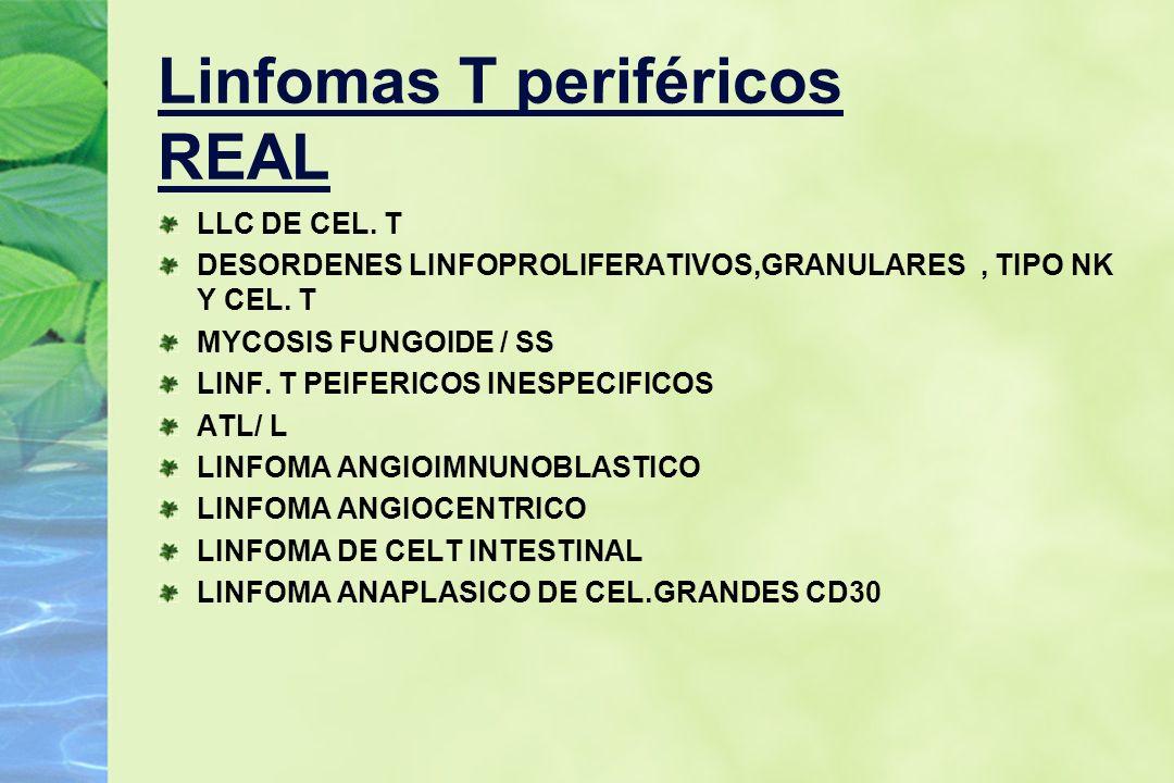 Linfomas T periféricos REAL