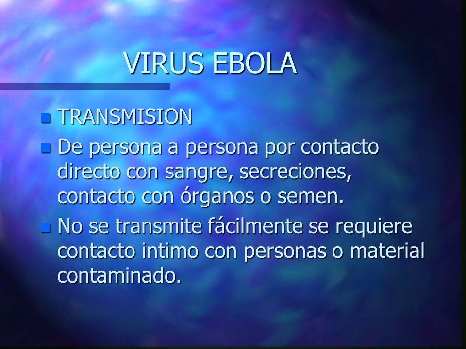 VIRUS EBOLA TRANSMISION