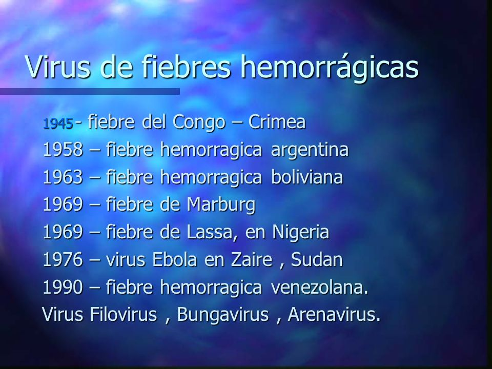 Virus de fiebres hemorrágicas