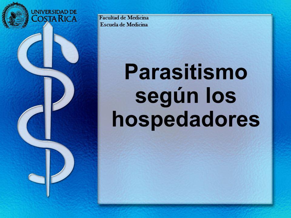 Parasitismo según los hospedadores