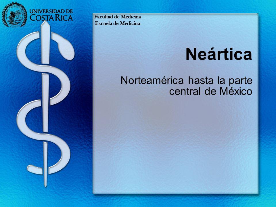 Norteamérica hasta la parte central de México