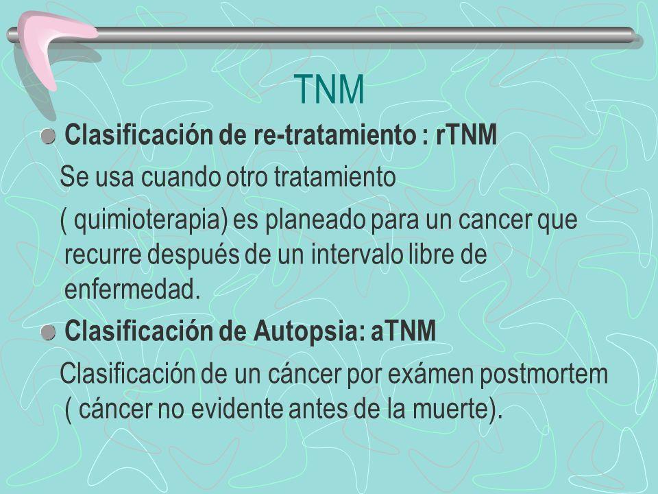 TNM Clasificación de re-tratamiento : rTNM