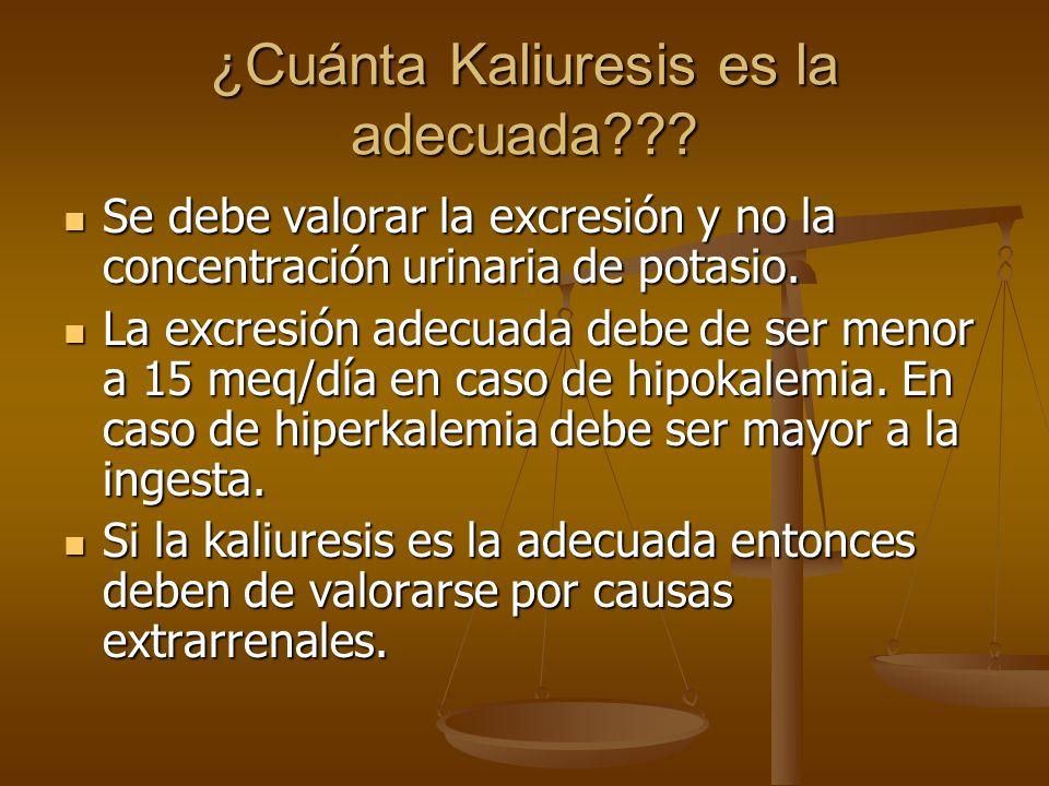 ¿Cuánta Kaliuresis es la adecuada