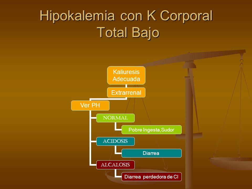 Hipokalemia con K Corporal Total Bajo