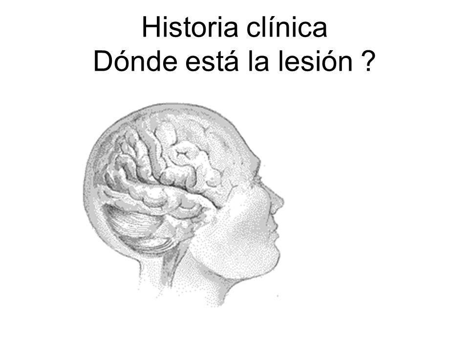 Historia clínica Dónde está la lesión