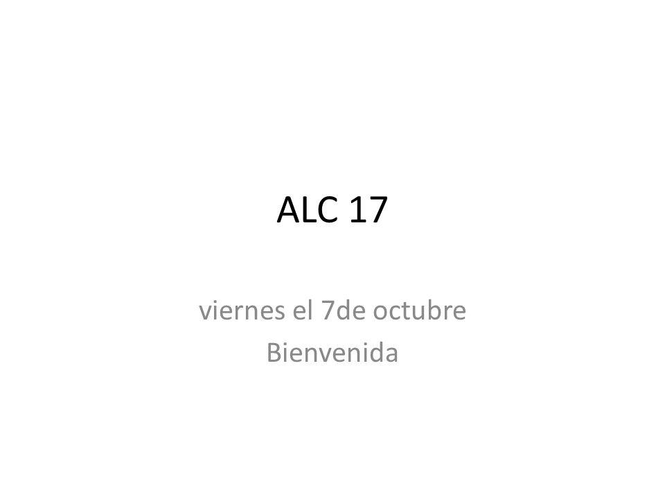 viernes el 7de octubre Bienvenida