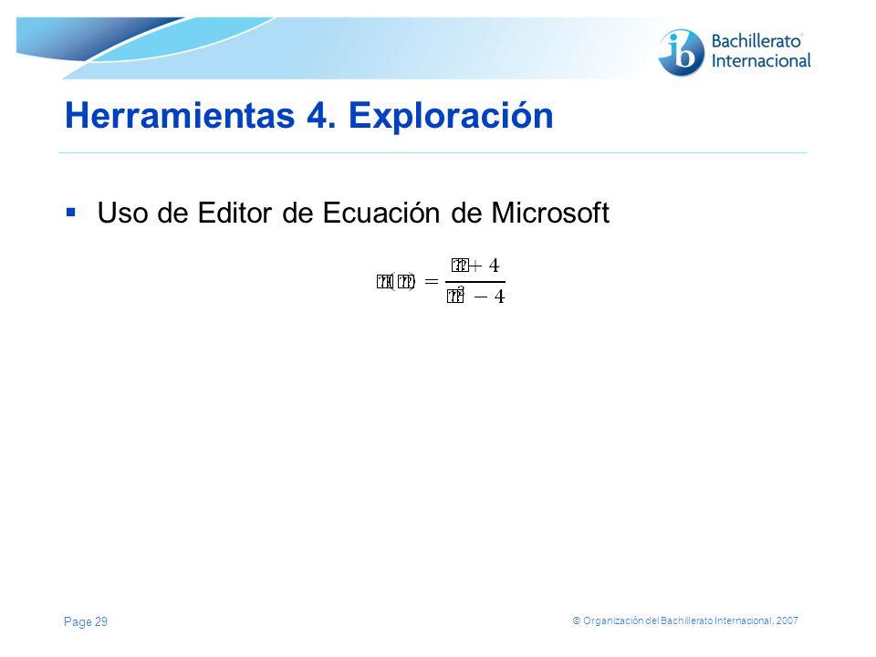 Herramientas 4. Exploración