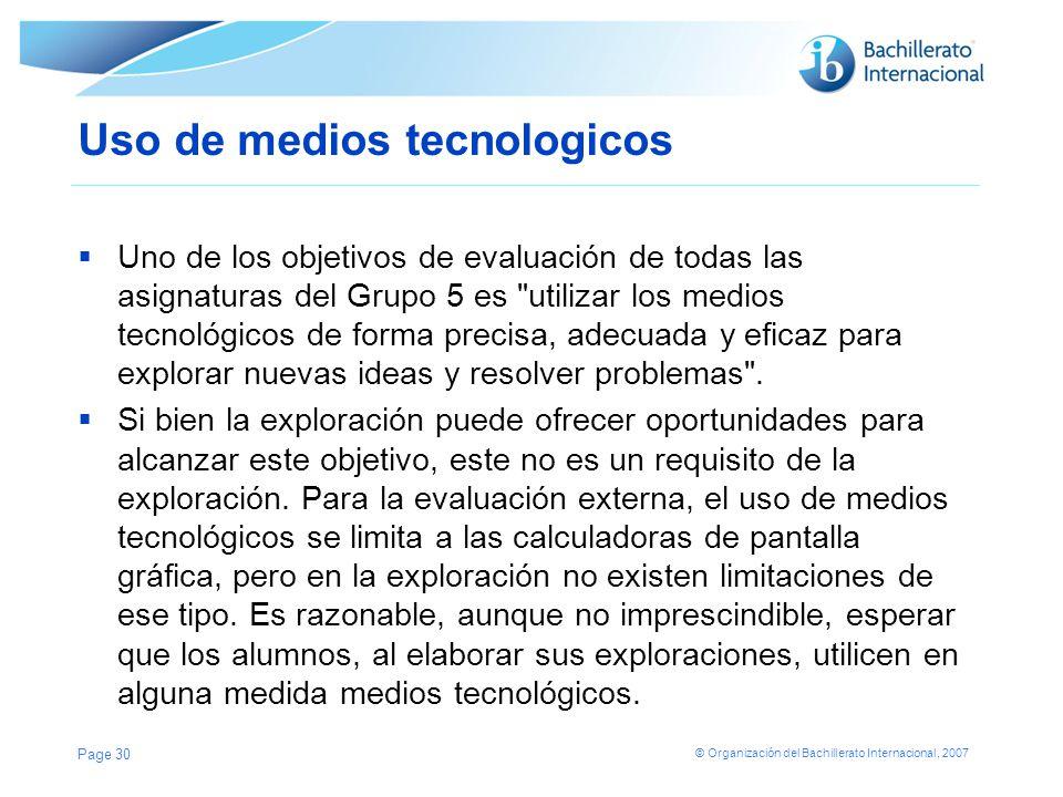 Uso de medios tecnologicos