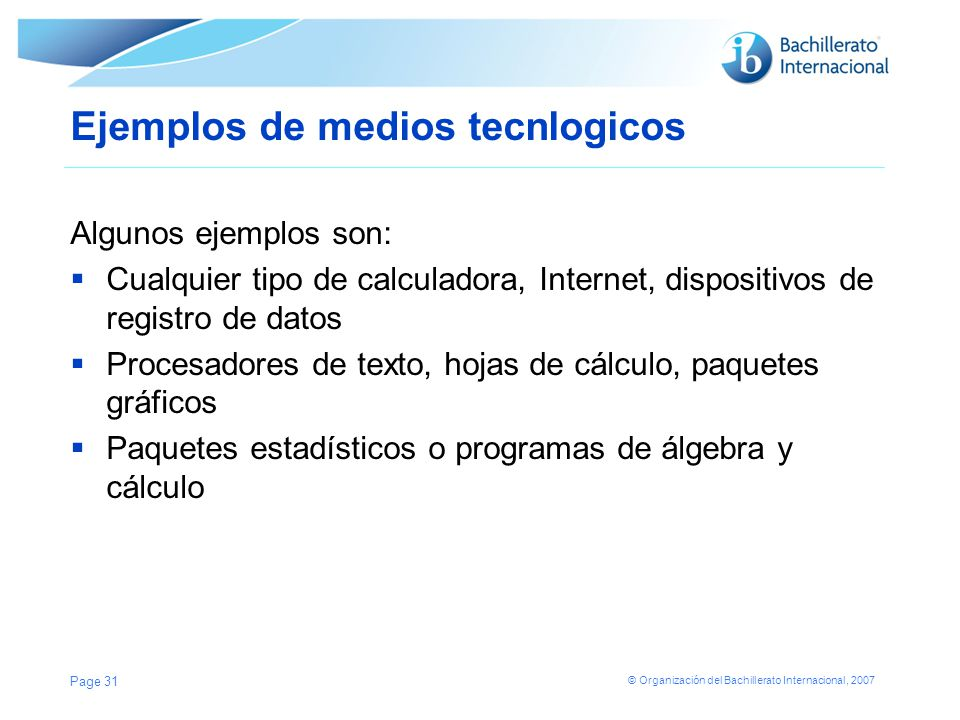 Ejemplos de medios tecnlogicos