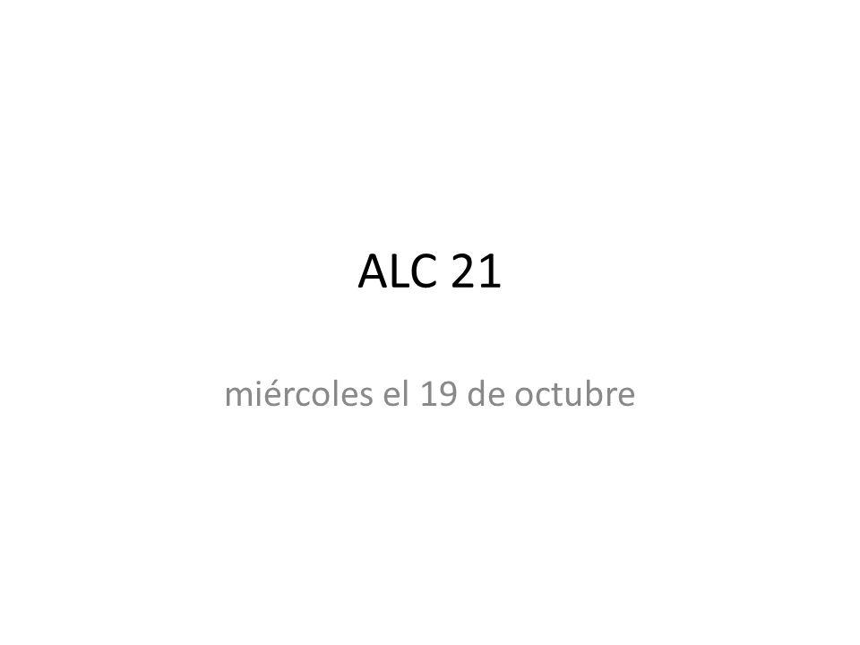 miércoles el 19 de octubre