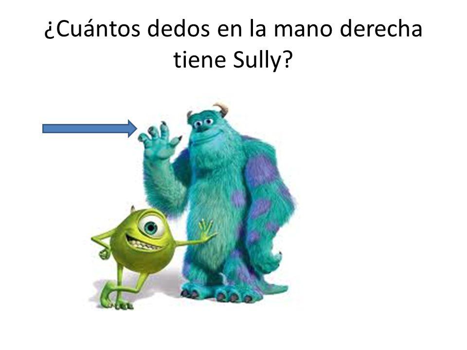 ¿Cuántos dedos en la mano derecha tiene Sully