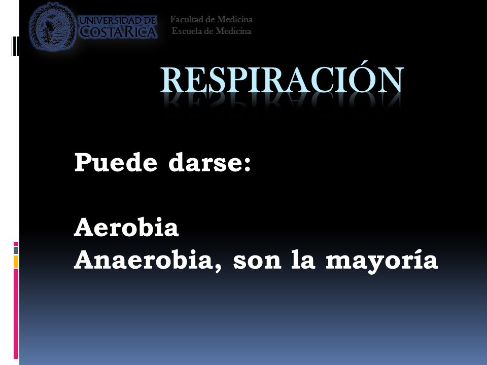 Puede darse: Aerobia Anaerobia, son la mayoría