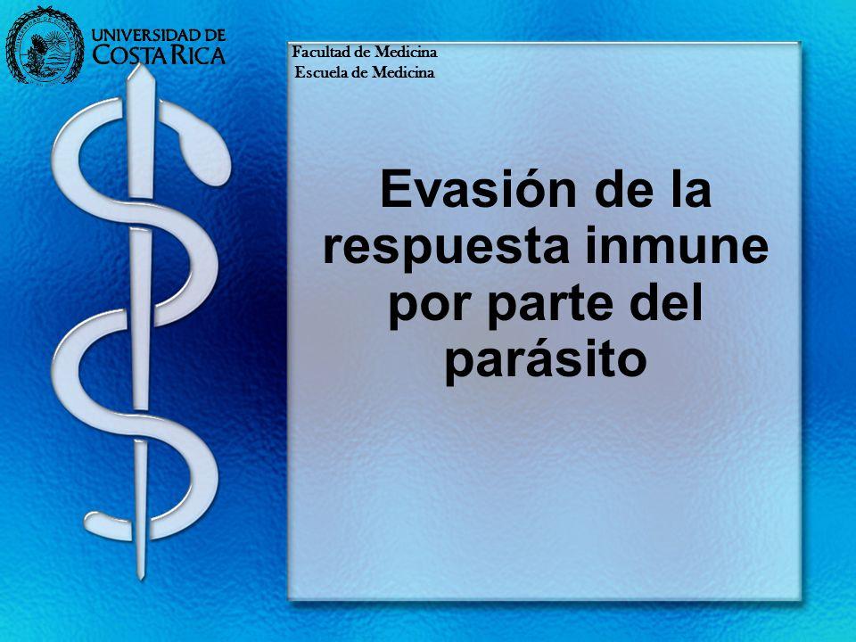 Evasión de la respuesta inmune por parte del parásito