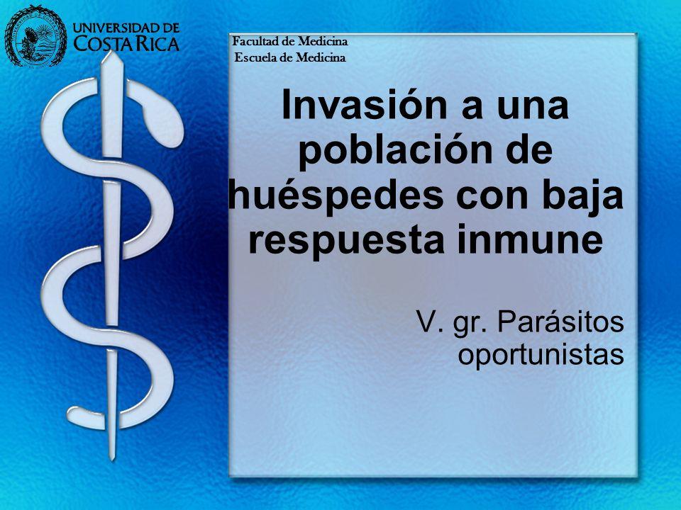 Invasión a una población de huéspedes con baja respuesta inmune