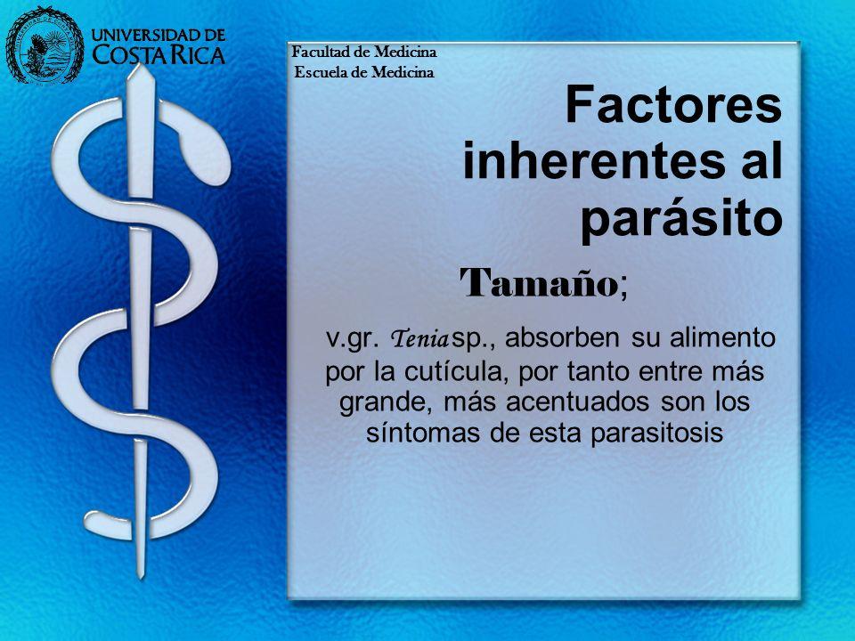 Factores inherentes al parásito