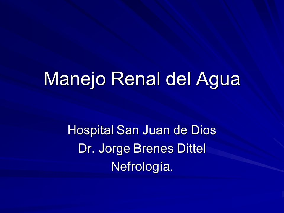 Hospital San Juan de Dios Dr. Jorge Brenes Dittel Nefrología.